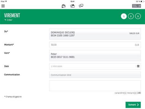 virement bancaire international montant maximum easy banking dans l app store