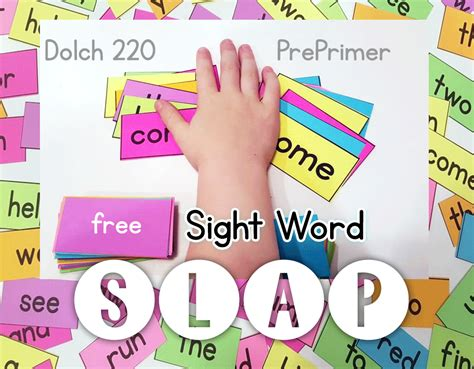 kindergarten sight word file folder 383 | SightWordSlapHeader