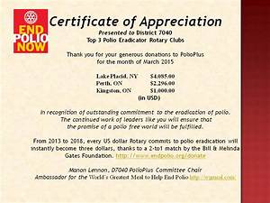 rotary certificate of appreciation template - district 7040 stories
