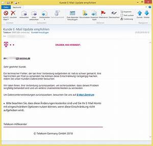 Gefälschte Telekom Rechnung Per Post : kunde e mail update empfohlen von telekom bbb s t online ~ Themetempest.com Abrechnung