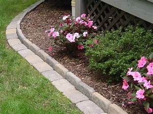 Edging, A, Flower, Bed, With, Cement, Pavers, This, Link, Gives, You, The, Full, Instructions, On, How, To, Do