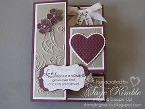 Wedding Card with Elegant Lines Embossing Folder