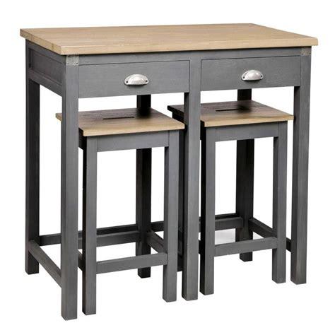 table haute de cuisine et tabouret mini table cuisine avec gain de place dans la 2017