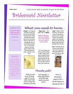 the 1st bridesmaid newsletter weddingbee photo gallery With bridesmaid newsletter template