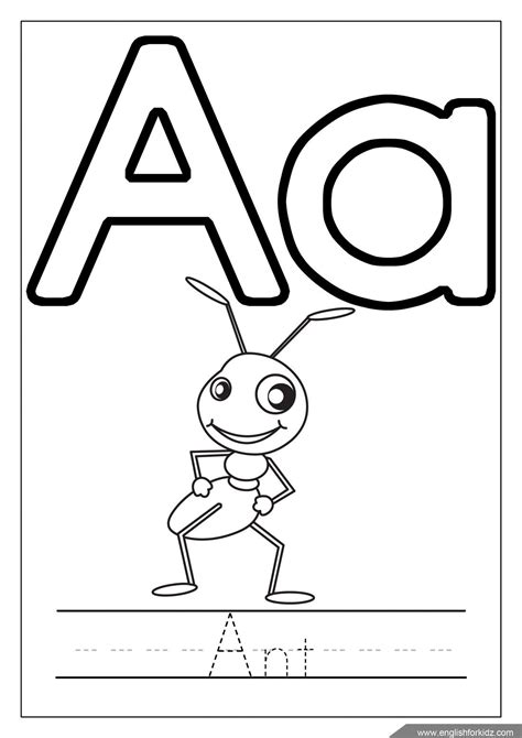 Coloring Letters by Englishforkidz Coloring Pages Tracing Practice