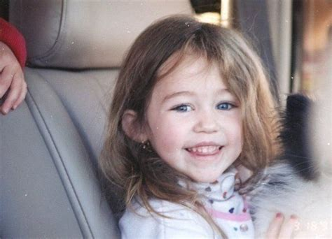 baby miley miley cyrus babylittle miley cyrus hannah miley celebrity yearbook