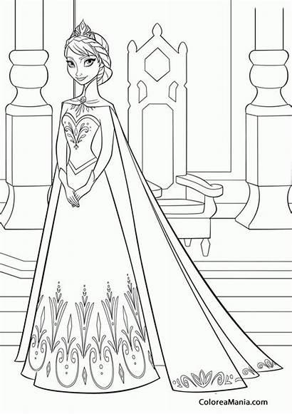 Elsa Frozen Colorear Mewarnai Gambar Coloring Clip