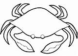 Crab Coloring Animals Sheet Pages Sea Printable Animal Simple Under Marine sketch template