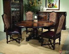 Antique Tuscan Formal Dining Room Valencia Antique Style Round Table Dining Room Set