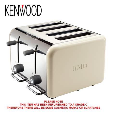 kenwood toaster kmix kenwood kmix ttm042 almond 4 slice toaster high lift facility c grade ebay