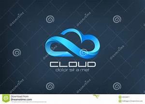 Cloud Computing Icon Vector Logo Design Template. Royalty ...