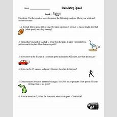 Calculate Speed Worksheet By Mrs Coverts Class Tpt