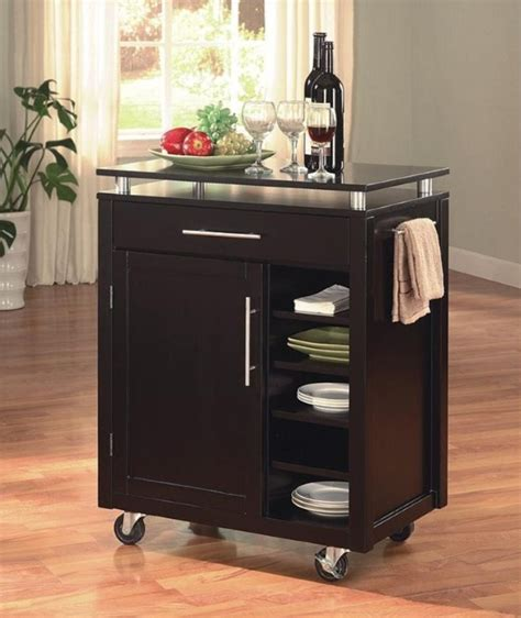 kitchen trolley ideas best kitchen cart ideas with wheel for home needs homesfeed
