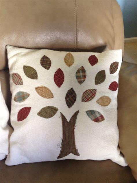 diy fall applique pillow