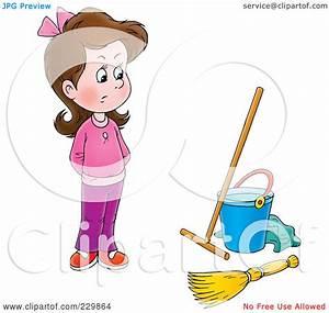 Royalty-Free (RF) Clipart Illustration of a Stubborn Girl ...
