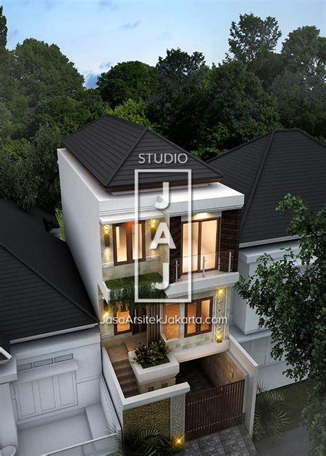 rumah minimalis gaya bali  lantai