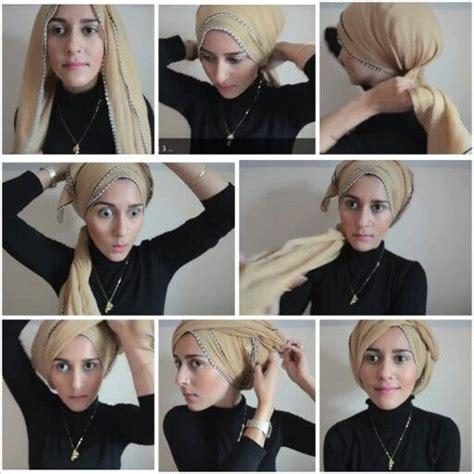 dina tokio turban style hijab tutorial orient divat
