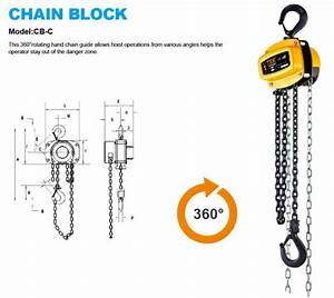 China Cb-c 3 Ton Manual Chain Hoist With Ce Gs