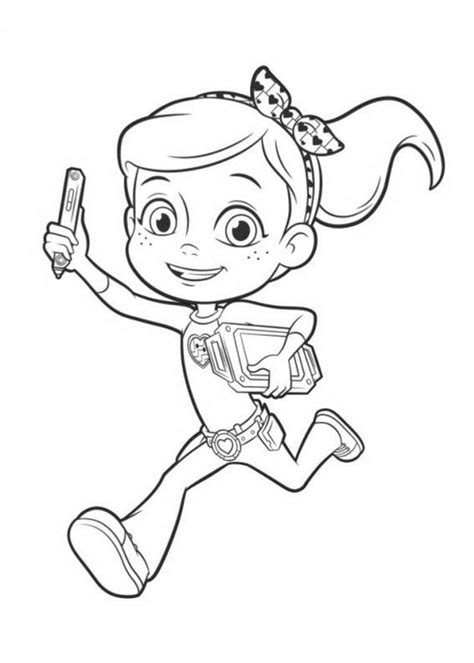 rusty rivets coloring pages    print