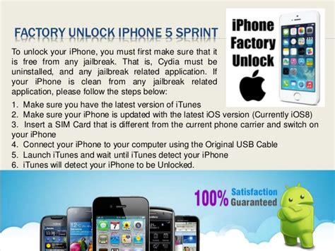 how to unlock iphone 5c verizon factory unlock sprint iphone 5 1504