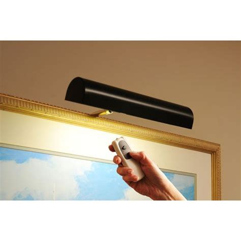 concept picture lights black cordless led remote control