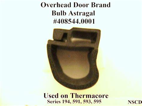 overhead door thermacore bulb type bottom weather seal