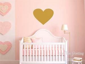 gold heart wall decal large heart decal gold decor heart With cute gold heart wall decals