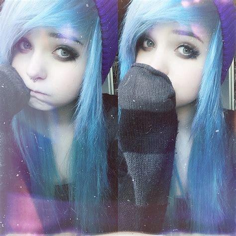 Milkwhore Instagram ‿ Blue Hair Sweater Weather