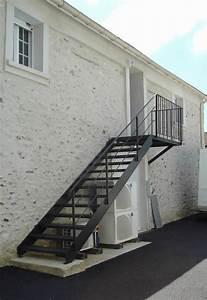 Escalier D Extérieur : fabrication escalier sur mesure ferronnerie entreprise marc bourrellier yvelines 78 paris ~ Preciouscoupons.com Idées de Décoration