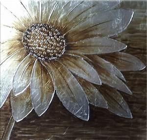 Toile Blanche A Peindre : peinture marguerite blanche tableau peint carr ~ Premium-room.com Idées de Décoration