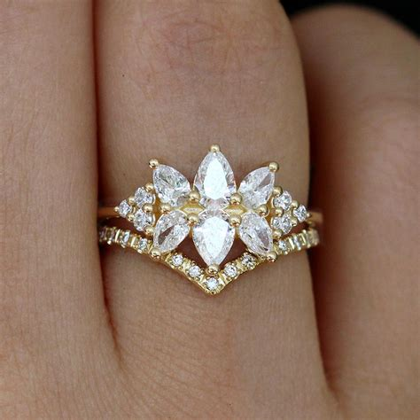 diamond cluster engagement ring the flora ring artemer