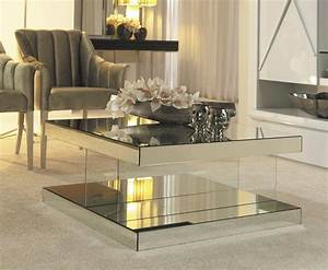 Mirrored coffee table design images photos pictures for Mirrored coffee table and end tables