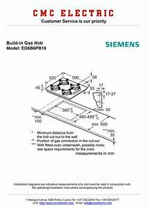 Siemens Eo6b6pb10 Built-in Gas Hob - Cmc Electric