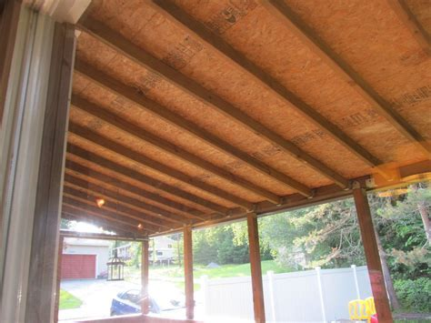 Hometalk   How to Finish Back Porch Ceiling Inexpensively