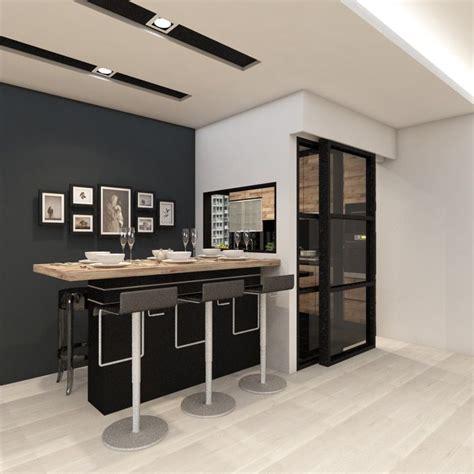 kitchen bar table against wall bar counter against wall singapore hdb search