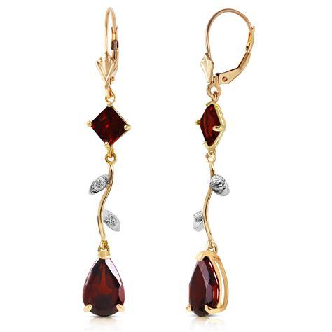 14k Gold Chandelier Earrings by 3 97 Carat 14k Solid Gold Chandelier Earrings