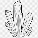 Crystal Drawing Line Cristal Ausmalbild Coloring Clip Pngwave sketch template