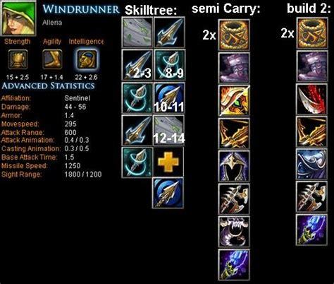 windrunner alleria item build skill build tips dota bite feed  dota game