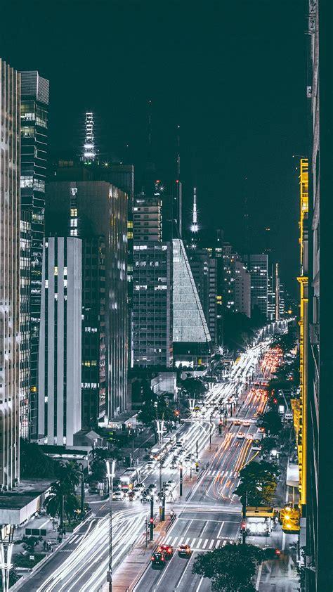 cool city night view urban street iphone  wallpaper