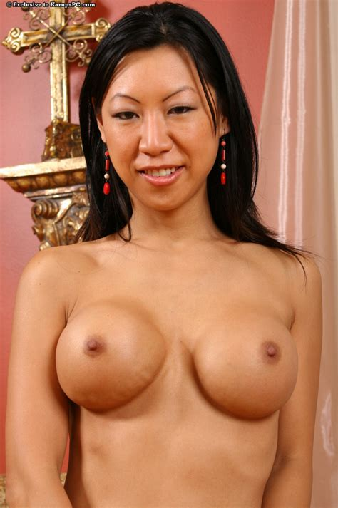 asian milf tia ling shows off her amateur ass and big tits