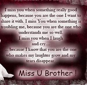 Miss you brother... | Quotes | Pinterest
