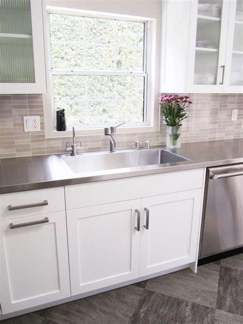 Stainless Steel Sink Countertop Integrated - kitchen with stainless steel sink fully integrated