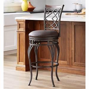 kensington, hill, hartley, 30, u0026quot, , wood, and, bronze, metal, swivel, bar, stool, -, walmart, com