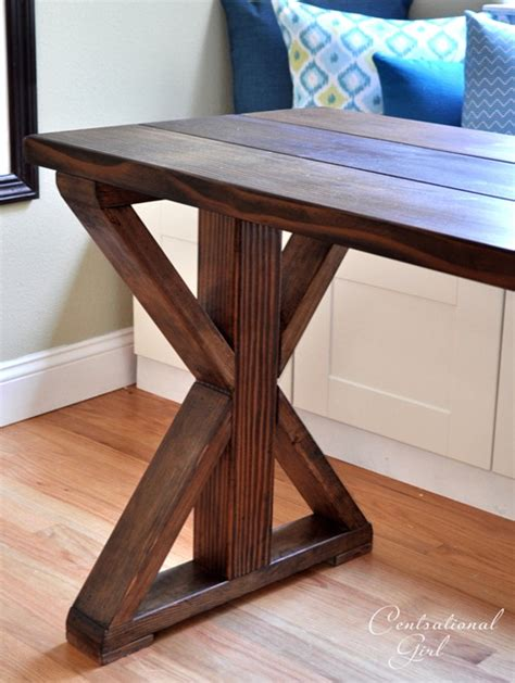 build a wooden desk x base table start to finish centsational