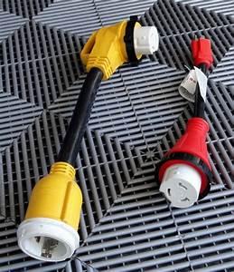 50 Amp Rv Power Cord   U0026 2 Adapters  W  Twist Lock Connector