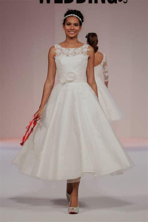 ankle wedding dress anara lace 1950s tea calf length wedding dress