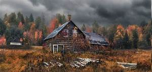 Nature, Landscape, Cabin, Dry, Grass, Forest, Fall, Clouds, Hansel, And, Gretel, Trees, Wallpapers