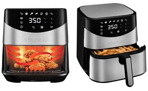 fryer air costco gourmia digital stainless steel