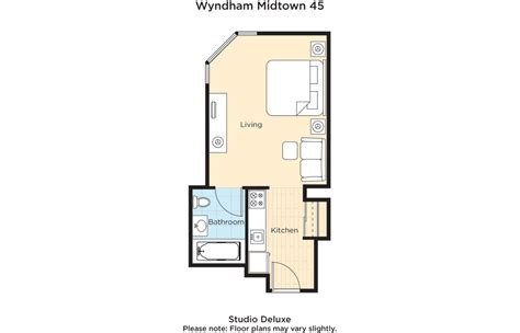 kitchen layout island wyndham midtown 45 at nyc