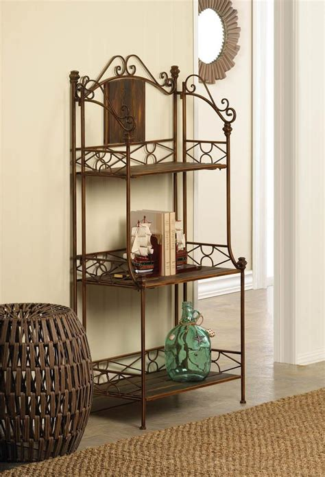 rustic bakers rack shelf wholesale  koehler home decor